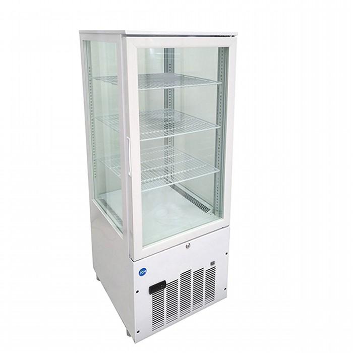 JCMS-188 188L ジェーシーエム【送料無料・代引き不可】 JCM 4面ガラス冷蔵ショーケース 2℃~12℃ 片面扉 冷蔵庫