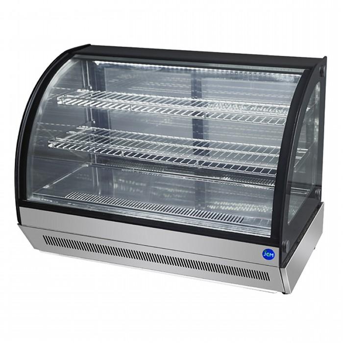 正面ガラス曇り除去機能付きだから商品がきれいに見える JCM 初回限定 卓上型対面冷蔵ショーケース 2℃~8℃ ラウンド型 60L 冷蔵庫 ジェーシーエム 送料無料 JCMS-60T 激安通販専門店 代引き不可