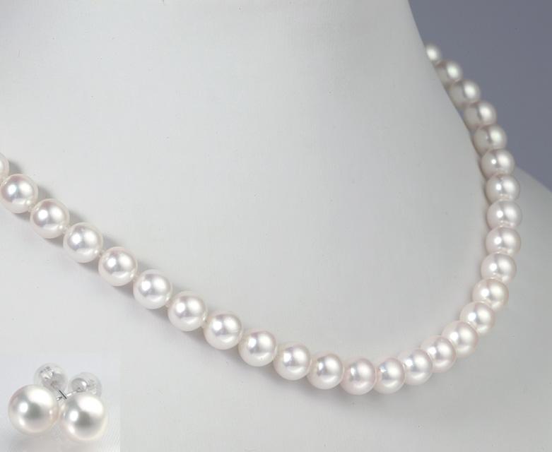 真珠ネックレスセット/7.0-7.5mm アコヤ真珠 パールネックレス