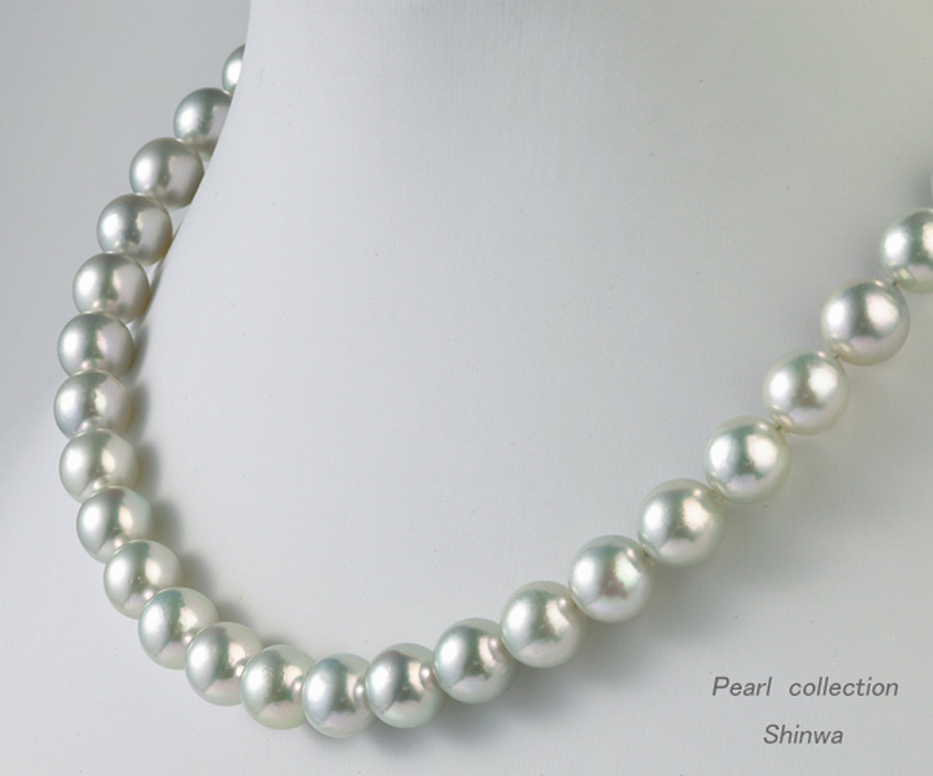 無調色ナチュラル真珠ネックレス/8.5-9.0mm アコヤ真珠 パールネックレス