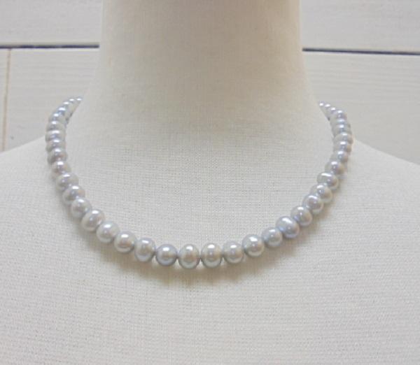 真珠ネックレス・ピアスセット・ 淡水真珠ペンダント ネックレス/ミリ程度 約cm【淡水真珠】【通販】