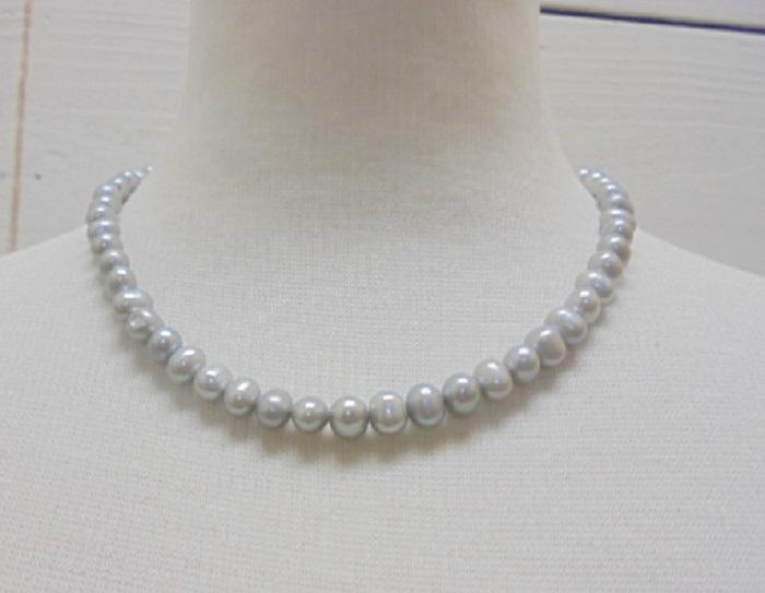 真珠ネックレス・イヤリングセット・ 淡水真珠ペンダント ネックレス/ミリ程度 約cm【淡水真珠】【通販】