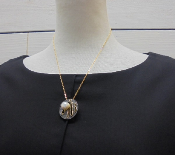 真珠ペンダント・SVアンティークラウンド淡水ネックレス ペンダント/mm/【通販】【アコヤ真珠】