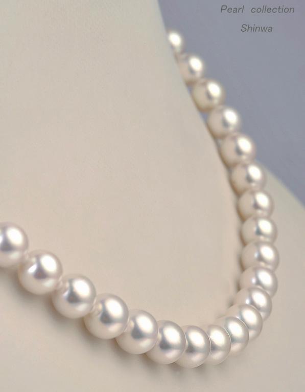 花珠真珠ネックレス/7.5-8.0mm【オーロラ花珠鑑別書付き】アコヤ真珠 パールネックレス