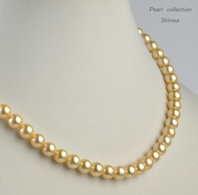 真珠ネックレス/7.0-7.5mm【オーロラクイーン鑑別書付き】アコヤ真珠 パールネックレス