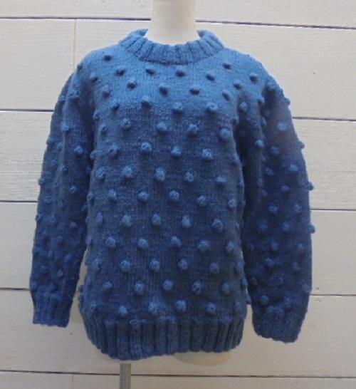 CHILD WOMAN チャイルドウーマン ネパール手編みポップコーン ミドル丈プルオーバー【通販】