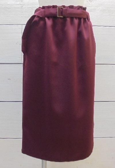 『SALE』NOMBRE IMPAIR ノンブルアンペール  グログランストレッチストレートスカート【通販】