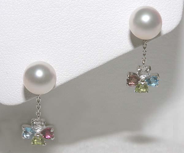 真珠屋さん 伊勢志摩 アコヤ本真珠 K14WG ピアス|アコヤ真珠|パール|真珠ネックレス|結婚式ウエディング|真珠専門店|通販