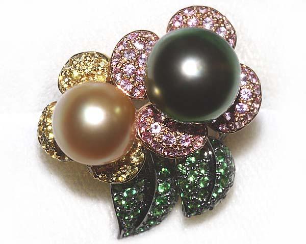 真珠屋さん 伊勢志摩 Peacock/Gold S1.41ct G0.58ct K18リング|パール|花珠|結婚式|ウエディング|真珠専門店|通販|送料無料