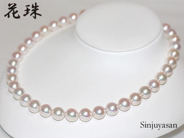 真珠屋さん 伊勢志摩 【花珠鑑別】特大! 10~10.5mm アコヤ真珠ネックレス