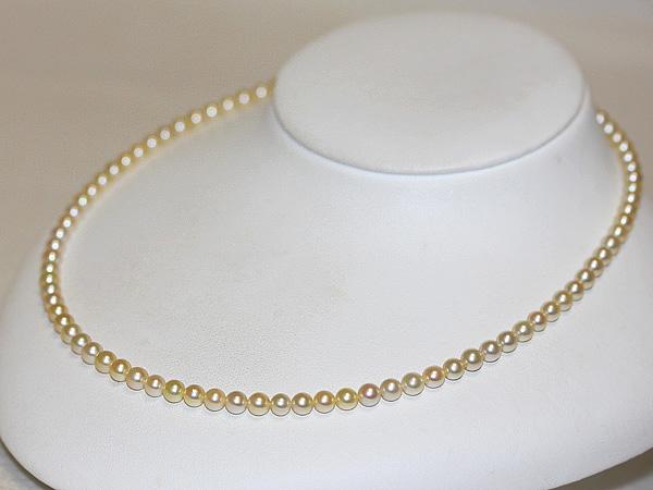 真珠屋さん 伊勢志摩 天然ゴールド 4.5~5.0mm アコヤ本真珠ネックレス|あこや真珠|真珠専門店|通販真珠ネックレス|パール|