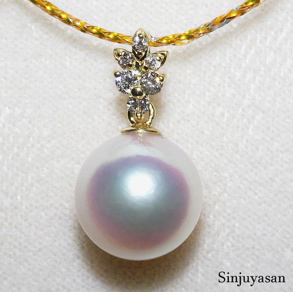 あす楽 公式通販 真珠屋さん 10.1mm バーゲンセール 伊勢志摩産 ダイヤモンド0.10ct ペンダント K18 アコヤ真珠