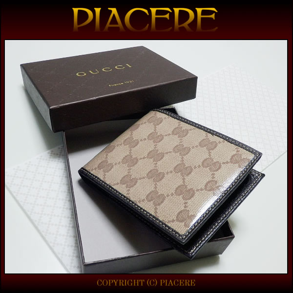 Fold the two Gucci wallet GUCCI 217044 FZIFG 9903 mens brand new premium sales