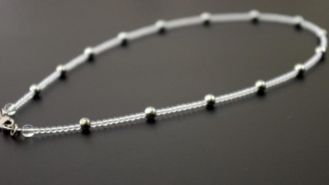 純ゲルマニウムネックレス 15粒 N型99.99999%  45cm     送料無料 10P20Sep14