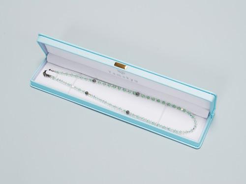 スワロゲルマ ネックレスクリストライト・クリスタル N型99.99999%4粒使用 留め具もゲルマ !