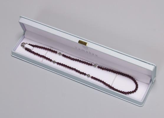 ジュエリーゲルマネックレス ガーネット 45・50cm N型99.99999%使用 ゲルマコーティング留め具付