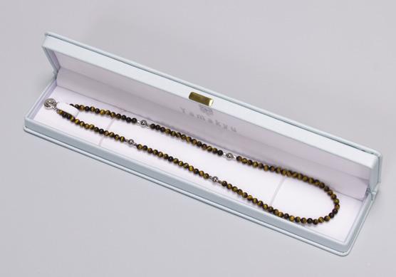 ジュエリーゲルマネックレス タイガアイ 45・50cm N型99.99999%使用 ゲルマコーティング留め具付