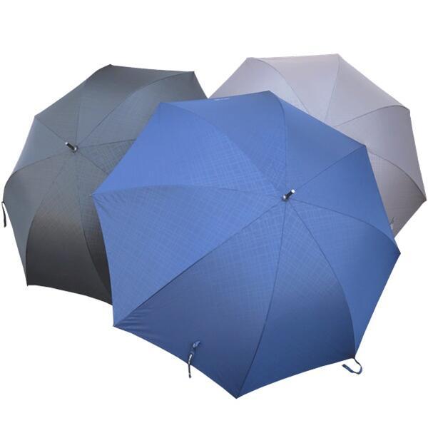 COMME des ジャンプ雨傘 地模様 メンズジャンプ式雨傘 ふるさと割 70cm オシャレ地模様チェック柄 3色 ネイビー グレー ブラック 父の日 ねずみ 紳士 紺 傘 黒 ワンタッチ 信憑 メンズ 大きい プレゼント