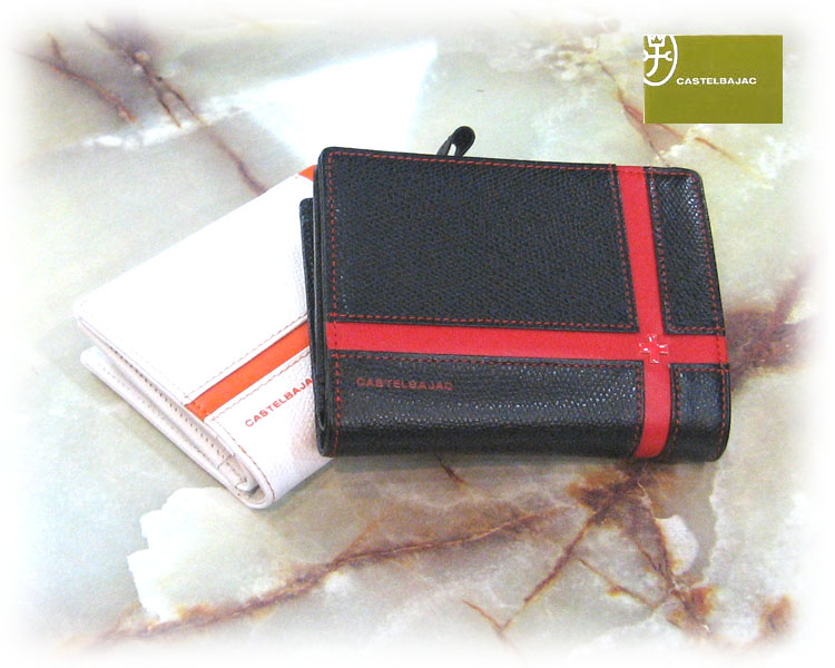 (送料無料)CASTELBAJACK/カステルバジャック ブローチ 二つ折り財布