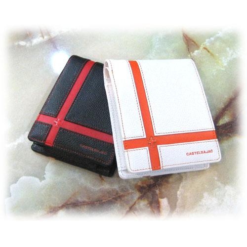 (送料無料)CASTELBAJACK/カステルバジャック ブローチ BOX型小銭付き二つ折り財布