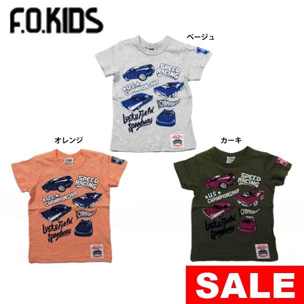 ce49abfec8f88  セール40%OFF  メール便OK エフオーキッズ F.O.KIDS レーシングカーTシャツ 男の子  80-140  r207308