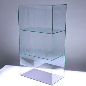 アクリル3段ケースA/5面体/ガラスエッジ/幅30cm/奥行18cm/高さ55.2mm