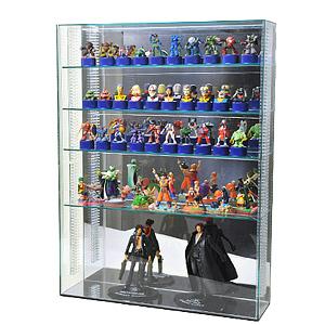 【 送料無料 可動棚 置き式 】アクリルコレクションケース/フィギュアケース/ガラス色 L 幅45cm/奥行13cm/高さ60cm 棚板4枚付