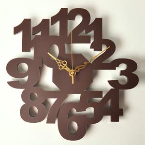 掛け時計/壁掛け時計/ロックロック ブラウン