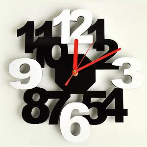 掛け時計/壁掛け時計/インテリア時計/ロックロックプラス ブラックホワイト