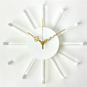 掛け時計/壁掛け時計/インテリア時計/サンクロック ホワイト
