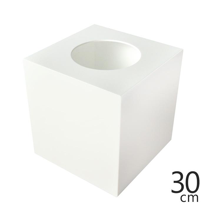 定番白30cm抽選箱 イベントなどに大活躍 抽選箱 大 格安 アクリル抽選箱ホワイト 幅30cm 春の新作続々 奥行30cm 高さ30.6cm L 不透明