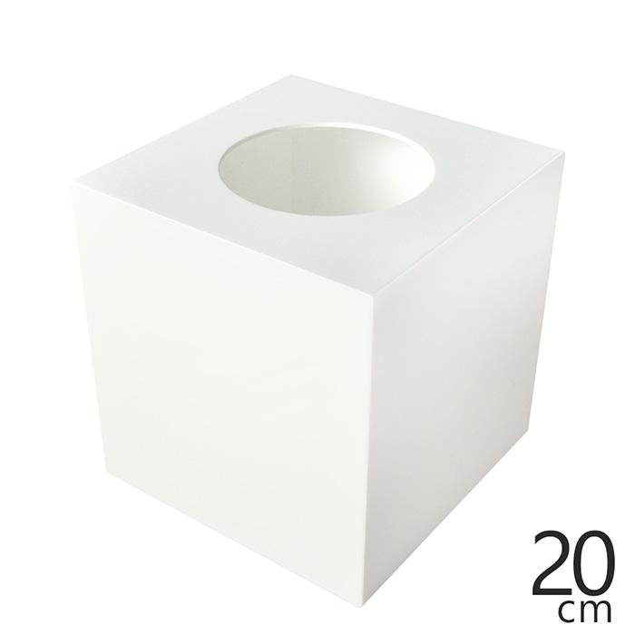 イベントにお勧め 抽選箱 小 アクリル抽選箱ホワイト 春の新作シューズ満載 入荷予定 不透明 S 高さ20.6cm 奥行20cm 幅20cm