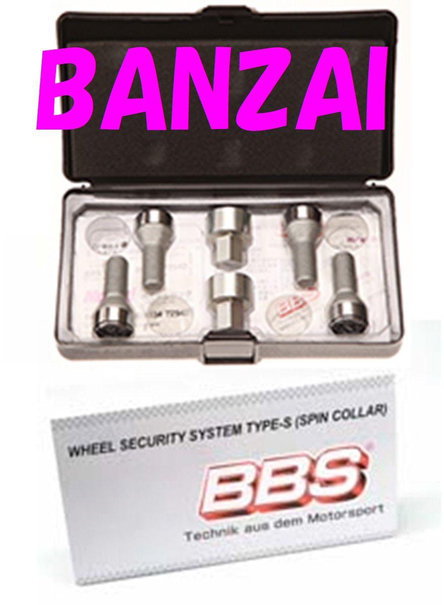 BBS 正規品 Lock Bolt ロックボルト(シルバー) M14 60゜-30mm P1.5 LBM6030AS