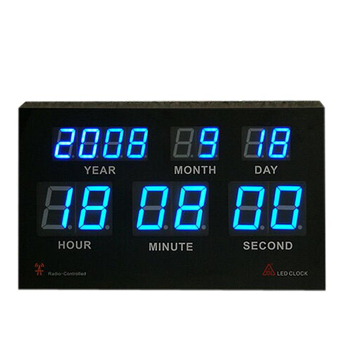 高品質LED電波置き時計★年/月/日/時間/分/秒の表示★自動で電波で正確な時間合わせ!