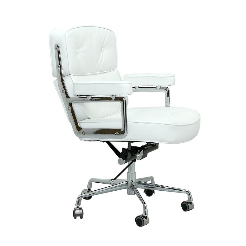 イームズ タイムライフオフィスチェア ホワイト 本革×アルミ チャールズ&レイ・イームズ Charles Ray Eames パーソナルチェア リラックスチェア 1人用 1人掛け 椅子 オフィスチェア パソコンチェア officechair