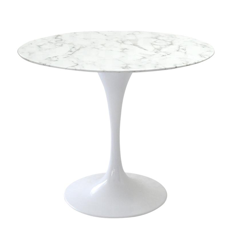 激安通販 人工大理石天板 デザイン家具 furniture チューリップテーブル 食卓テーブル 最新号掲載アイテム サイドテーブル 直径90cm 色ホワイト 大型テーブル ラウンドテーブル ジェネリック エーロサーリネンによるデザイン ダイニングテーブル リプロダクト デザイナーズ家具