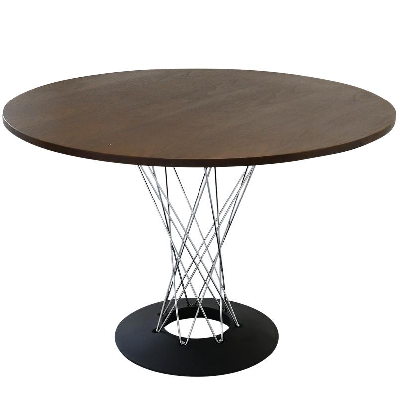 ダイニング キッチン 在庫一掃 テーブル メーカー直売 table 机 リプロダクト サイクロンテーブル 天板直径110cm 丸テーブル イサムノグチによるデザイン ダイニングテーブル ラウンドテーブル ジェネリック 天板色ダークウォールナット デザイナーズ家具