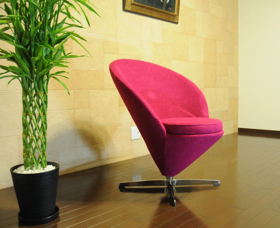 コーンチェア/ヴェルナー パントン デザイン/ピンク/ファブリック(カシミヤ)  Verner Panton corn chair ミッドセンチュリー パーソナルソファ 一人掛け リビング家具 応接家具 デザイナーズ家具 北欧