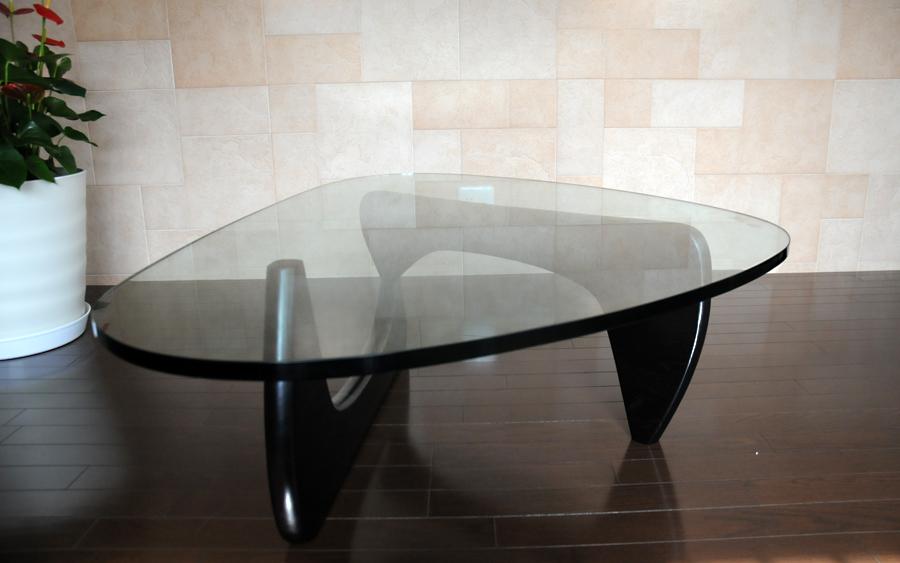 イサムノグチ/コーヒーテーブル/強化ガラス19mm×ブラックウッド/高品質デザイナーズテーブル 新品 coffee table Isamu Noguchi ダイニングテーブル センターテーブル ちゃぶ台 座卓 一人用 1人用 シンプル インテリア
