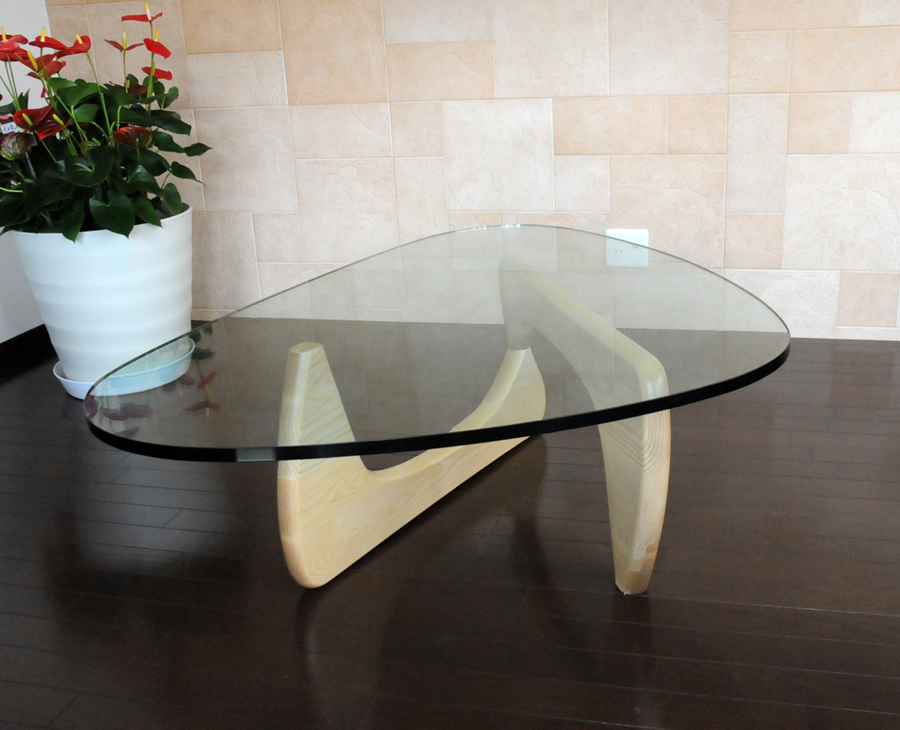 noguchi coffee table houzz isamu base buy tempered glass mm natural wood high quality designer