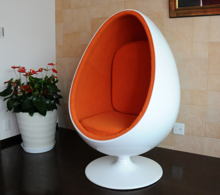 Sessle Eye ball chair / エーロ アールニオデザイン / white X orange Eero Aarnio ball chair design furniture mid century mid century designers furniture SALE sale reception furniture personal chair of high quality