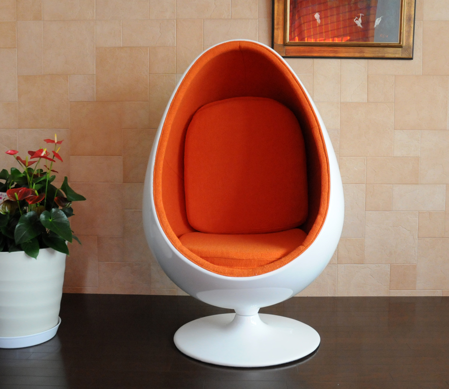 Sessle Eye 볼 체 어/エーロ/アールニオ 디자인/화이트 × 오렌지 Eero Aarnio ball chair design furniture mid century 센츄리 디자인 가구 품질 특별 전용 가구 개인용의 자