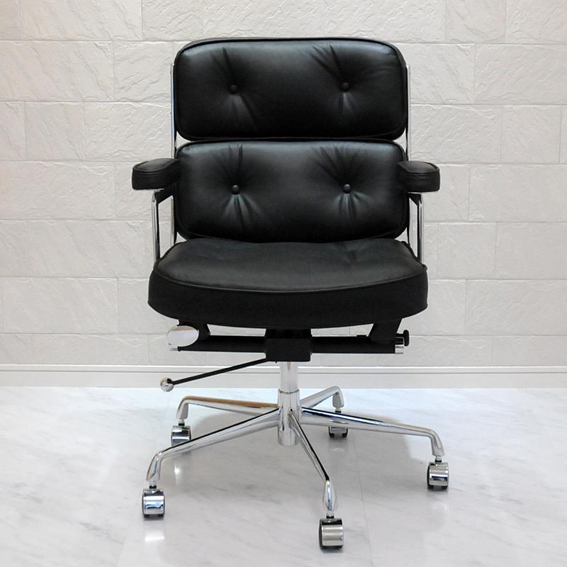 イームズ タイムライフエグゼクティブチェア/最高級総本革×アルミ/チャールズ&レイ・イームズ Charles Ray Eames パーソナルチェア リラックスチェア 1人用 1人掛け 椅子 オフィスチェア パソコンチェア officechair
