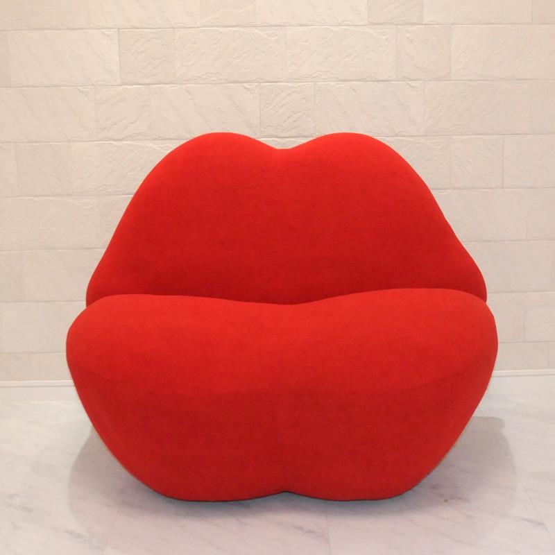 キスソファ kiss sofa/シングルサイズ/レッド/STUDIO65デザイン リプロダクト 新品 KISSOFA  一人用 1人用 パーソナルソファ