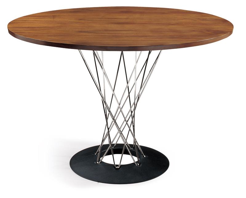 イサムノグチ サイクロンテーブル 110Φ 天板ウォールナット 丸テーブル ダイニングテーブル コーヒーテーブル isamu noguchi