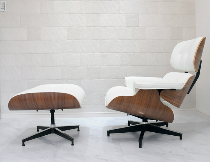 Reviews Listed By Eames Lounge Chair オットマンセット / White X Walnut / Sit Sitting