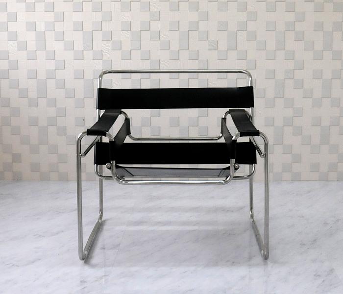 リプロダクト ジェネリック デザイナーズ家具 ワシリーチェア PVC仕様 色ブラック マルセル イス パーソナルチェア ブロイヤーによるデザイン 椅子 正規逆輸入品 いす セール 登場から人気沸騰