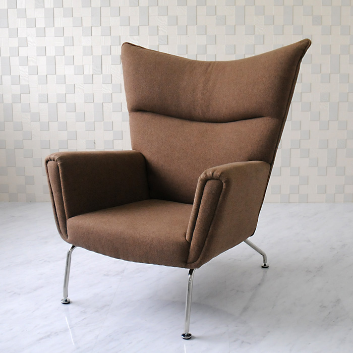 Wing Chair And Hans Wegner And Fabric Specifications / Brown / New Hans.J.