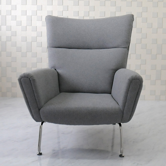 Wing Chair And Hans Wegner And Fabric Specifications / Grey / New Hans.J.