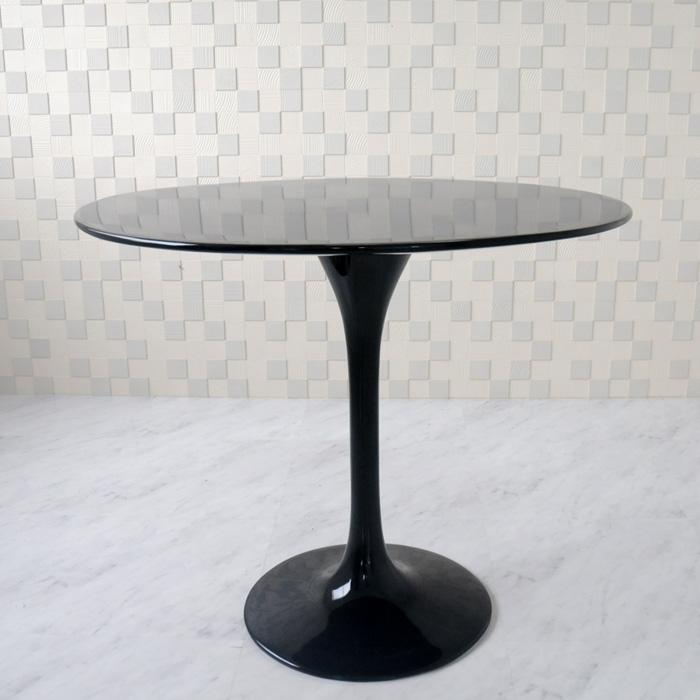 チューリップテーブル 直径90cm/ブラック black/エーロ・サーリネン作/新品 tuliptable Eero Saarinen ちゅーりっぷテーブル パーソナルテーブル サイドテーブル ダイニングテーブル デザイナーズ リプロダクト TABLE